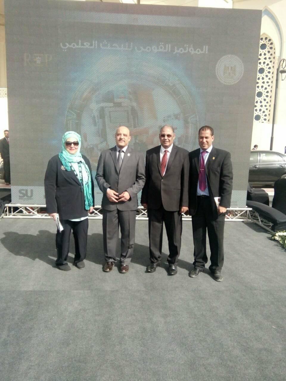 """جامعة اسوان تشارك في المؤتمر القومي للبحث العلمي بعنوان """"إطلاق طاقات المصريين"""" و معرض الابتكار المصاحب له"""